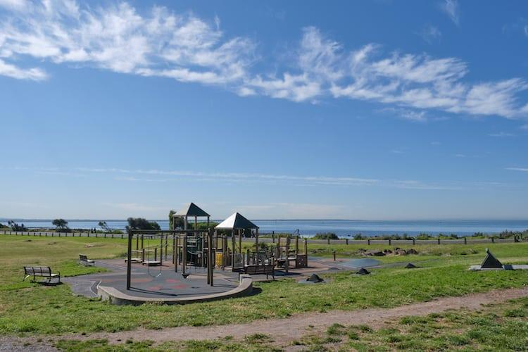 Point Gellibrand Park And Play Area with blue skies behind
