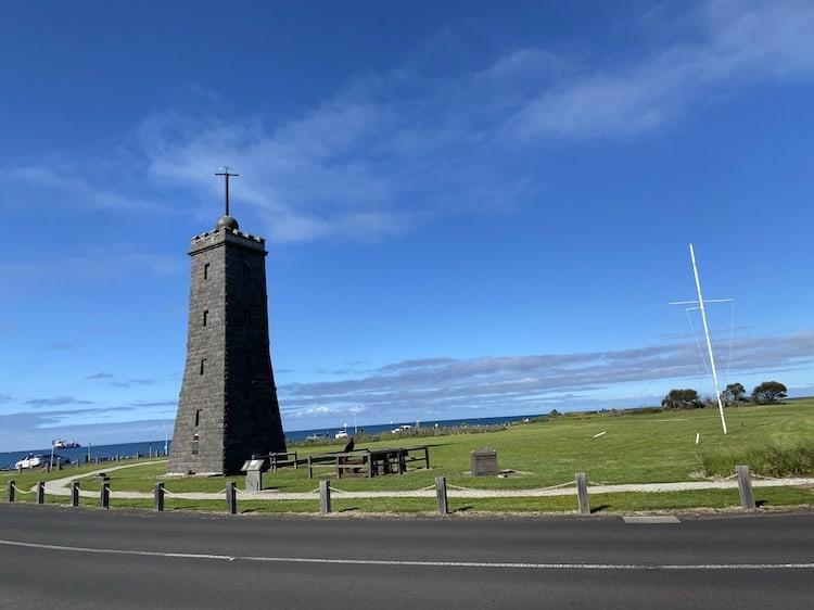 A picture of timbale tower in williamstown with blue skies behind it