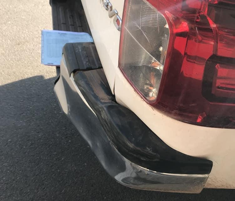 Damage To Toyota Hilux In Laos