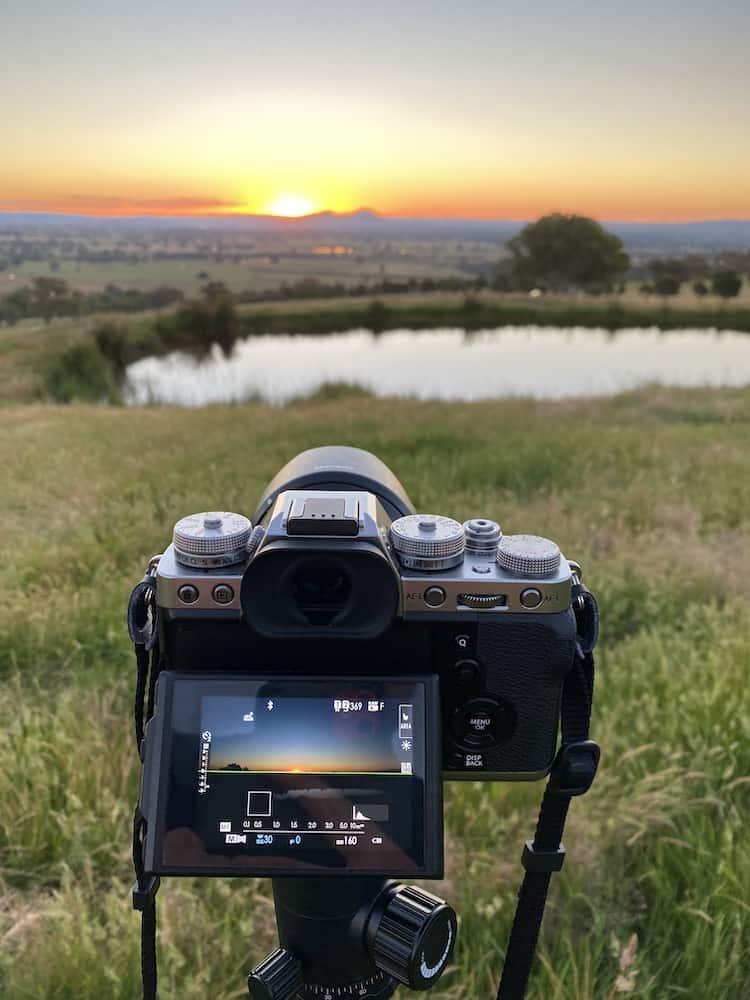 Fuji X T3 Taking A Sunset Shot