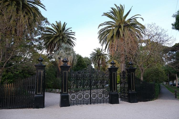 Williamstown Botanic Gardens Main Gates