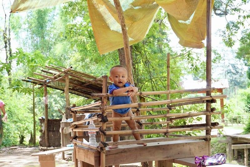 Caged Baby Laos