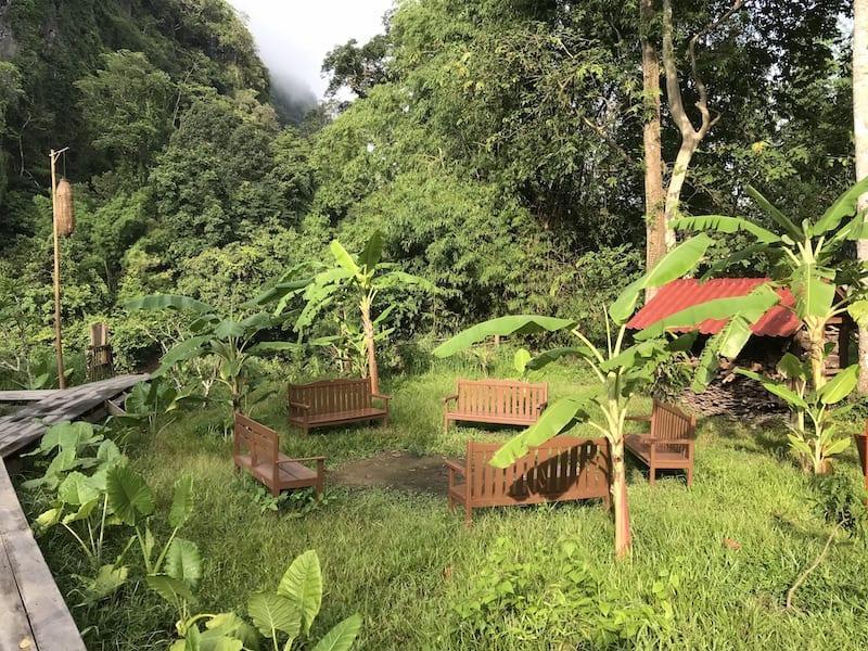 Seating Area At Springriver Resort