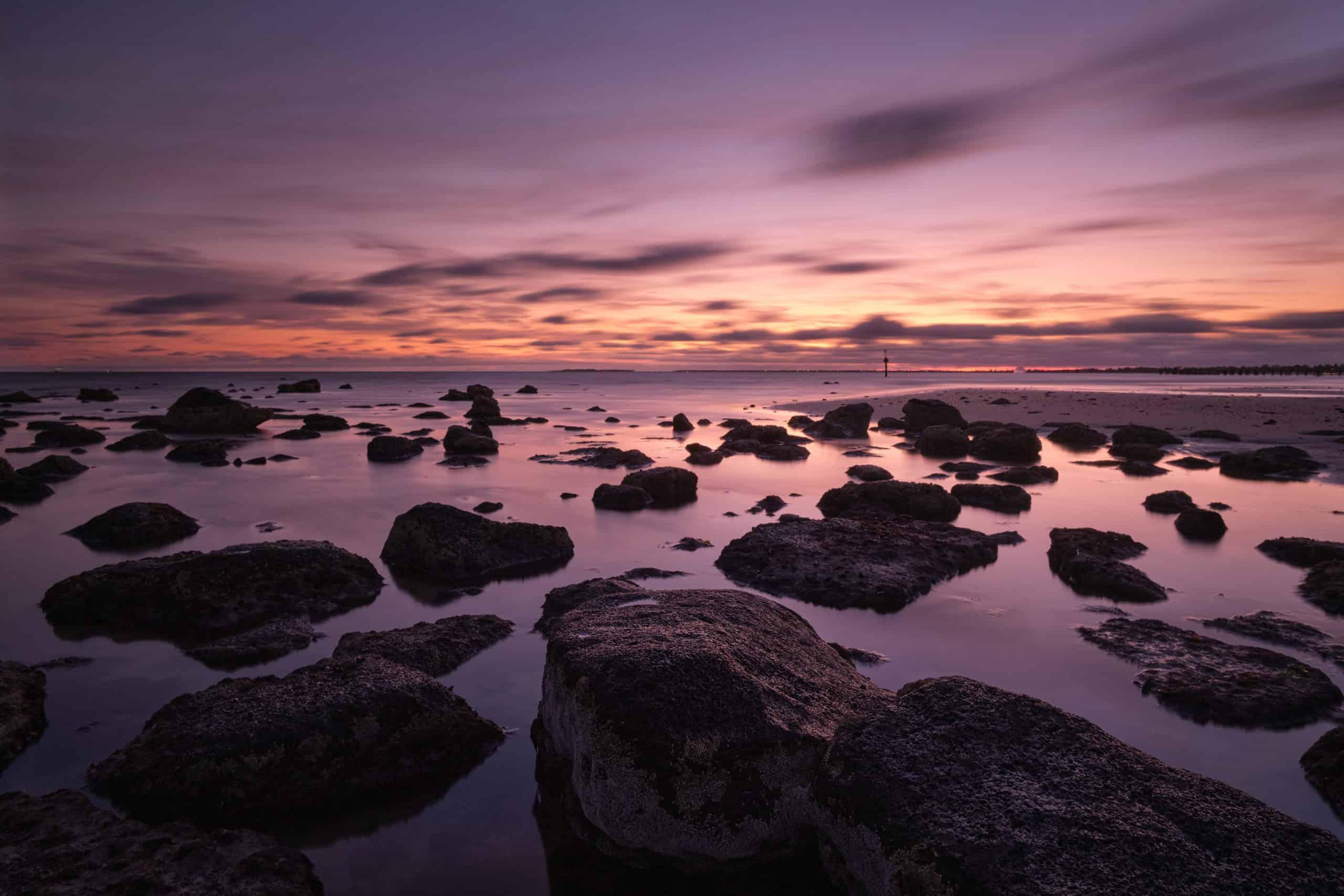 Sunset On Altona Beach