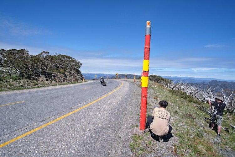 motorbikes on the great alpine road