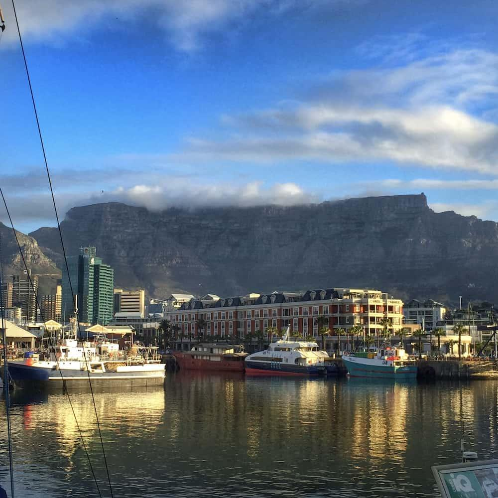 cape town from the docks