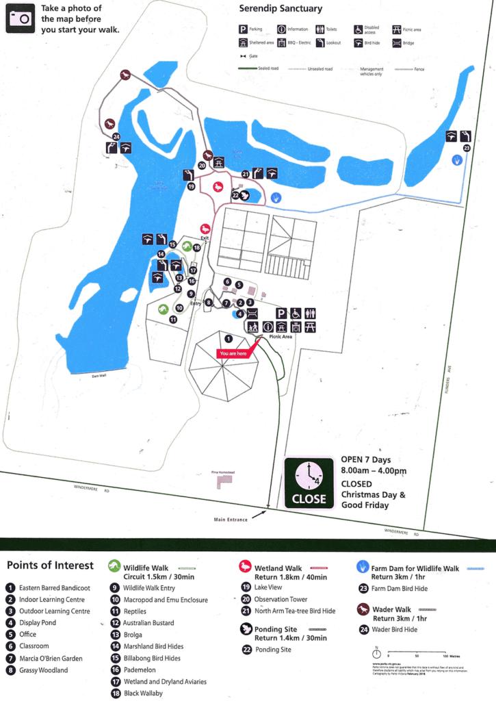 serendip sanctuary map