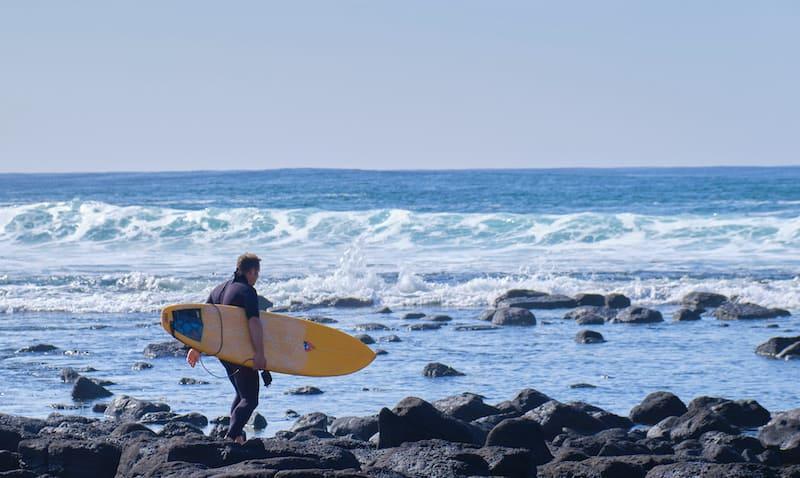 surfer at port fairy in victoria