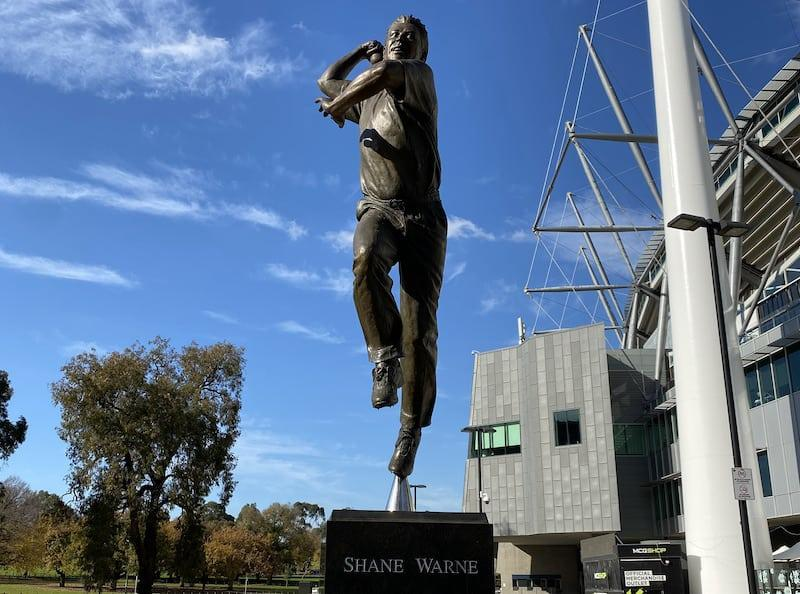 shane warne statue at mcg