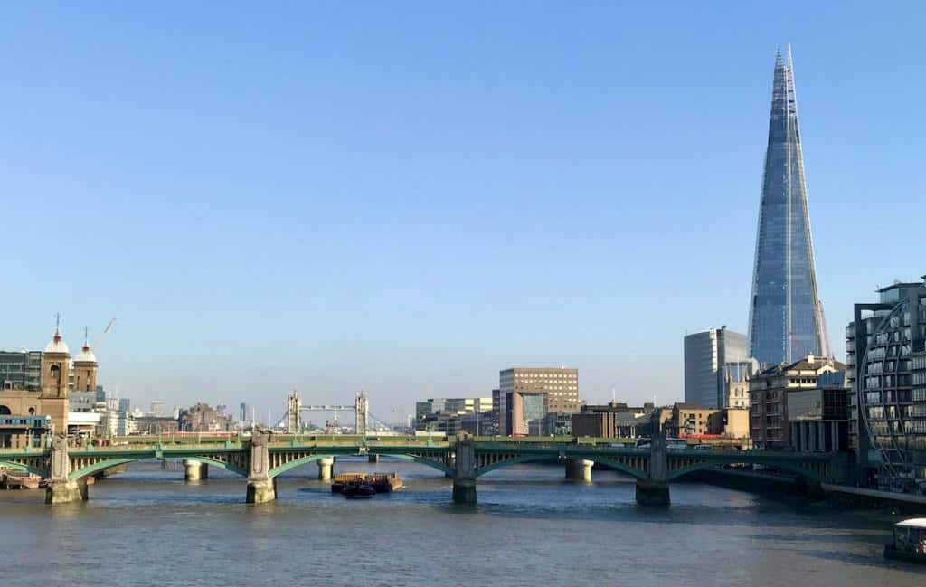 london tower bridge and shard