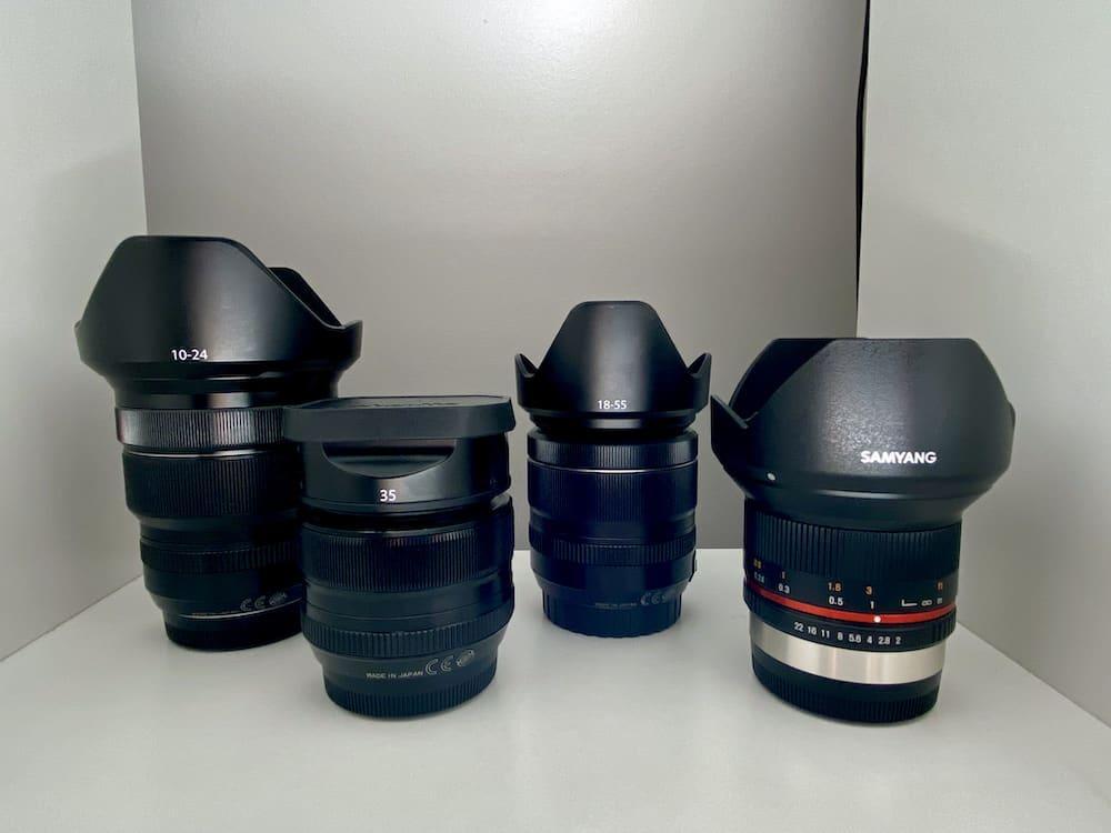 my fuji lenses
