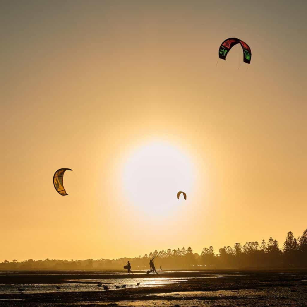 windsurfers at altona beach