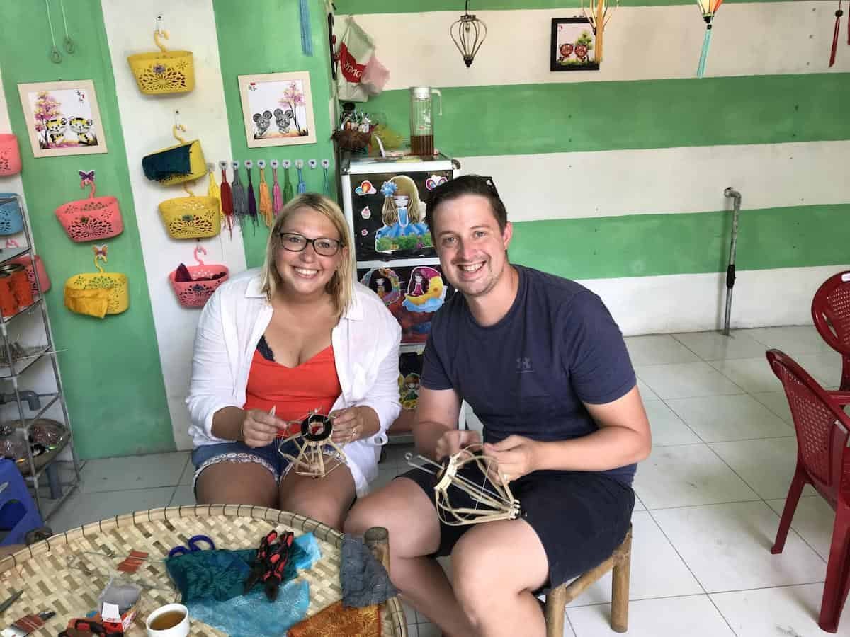 lantern making in hoi an with the lantern lady