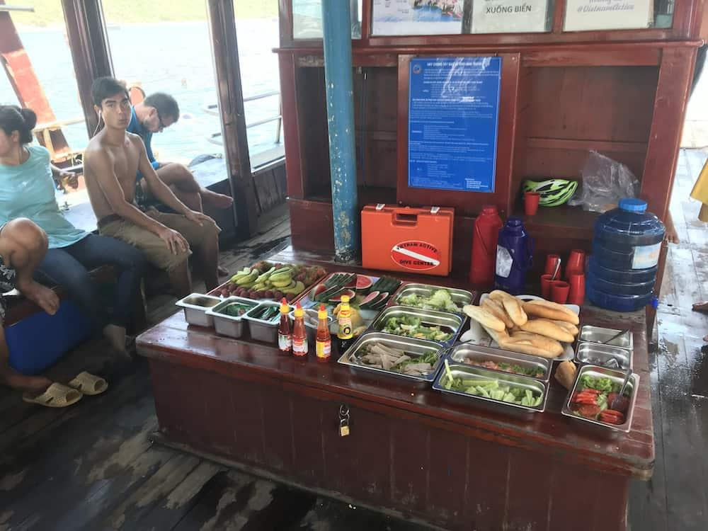lunch on the diving boat nha trang vietnam active
