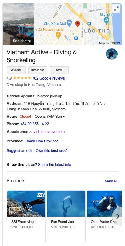 vietnam active google business